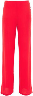 La Perla Guipure Lace-trimmed Stretch-silk Crepe Pajama Pants