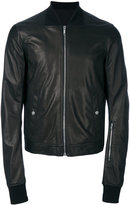 Rick Owens bomber jacket - men - Cotton/Cupro/Virgin Wool/Lamb Nubuck Leather - 48