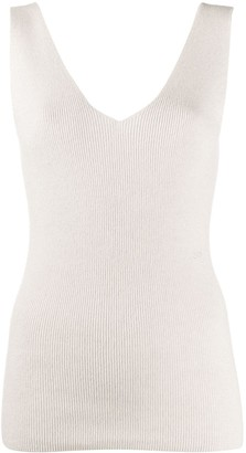 V-Neck Sleeveless Jumper