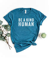 Simply Sage Market Women's Tee Shirts Teal - Teal & White 'Be A Kind Human' Tee - Women