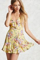 Forever 21 Floral Surplice Cami Dress