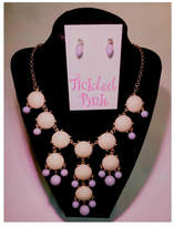 Twisted Designs Statement Necklace-Earring Set
