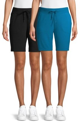 Athletic Works Women's Athleisure Bermuda Shorts, 2pk