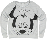 Jerry Leigh Silver Minnie Mouse Distressed Raglan Tee - Juniors