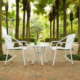 Crosley Palm Harbor 3-Piece Wicker Patio Bistro Set