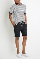 Forever 21 Drawstring Chino Cutoffs