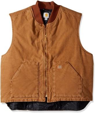 Carhartt Men's V02 Sandstone Vest Arctic Quilt Lined (Regular and Big & Talls Sizes)