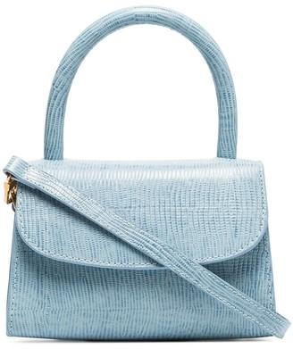 BY FAR mini lizard-effect tote bag