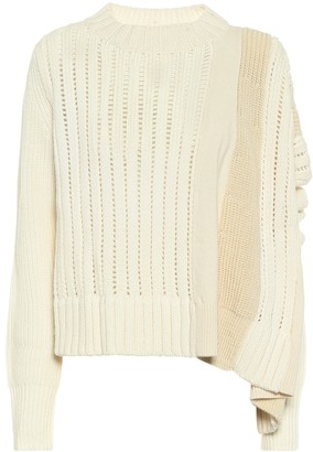 Sacai Asymmetric wool sweater