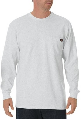 Dickies Big and Tall Men's Long Sleeve Heavyweight Crew Neck Tee