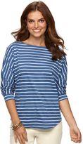 Chaps Women's Striped Boatneck Tee