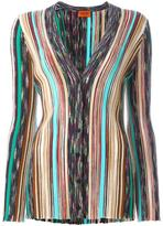 Missoni ribbed V-neck cardigan - women - Wool/Rayon/Polyester - 44