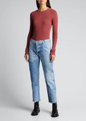RE/DONE 60S Slim Long-Sleeve Bodysuit