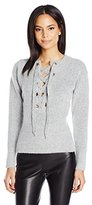 GUESS Women's Long Sleeve Alena Laceup Sweater
