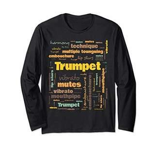 Trumpet Players Terminology Musicians Gift Long Sleeve T-Shirt