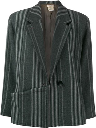 Versace Pre-Owned 1980's Striped Jacket