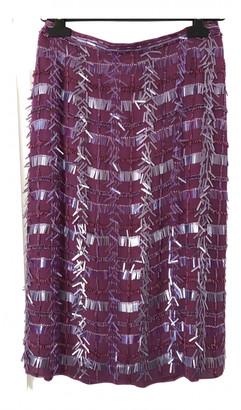 Max Mara Purple Silk Skirts