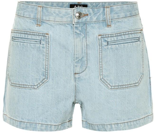 A.P.C. High-rise denim shorts