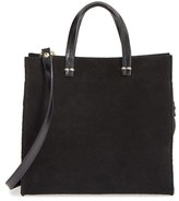 Clare Vivier 'Petite Simple' Suede Tote - Black