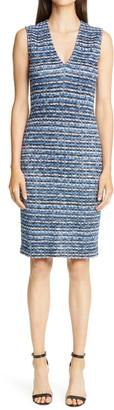 St. John Space Dye Knit Sheath Dress