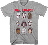 Star Wars STARWARS Force Awakens All I Learned T-Shirt