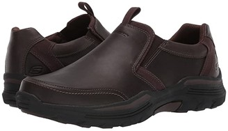 Skechers Relaxed Fit Expended - Morgo (Chocolate) Men's Shoes