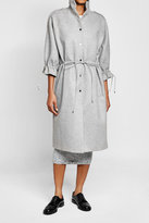 Carven Wool Coat with Drawstring Ties