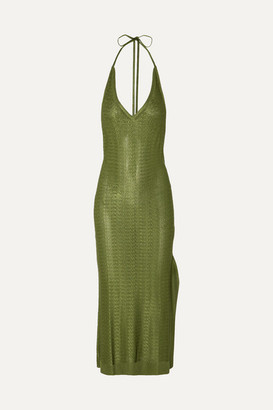 Esteban Cortazar Knitted Midi Dress - Green