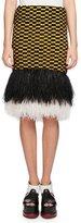 Proenza Schouler Ostrich-Hem Check Skirt, Multi