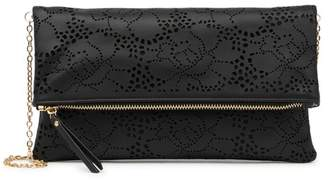 Urban Expressions Vegan Leather Laser Cut Clutch