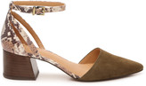 Crown Vintage Women's Vavi Pumps Green Size 5 Suede / faux leather or calf hair upper From Sole Society