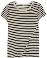 Pam & Gela Slash Striped Cotton Blend T-shirt