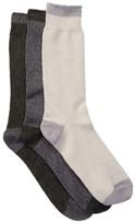 Lucky Brand Marled Tip Toe Heel Crew Cut Socks - Pack of 3