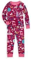 Hatley Little Girl's & Girl's Two-Piece Woodland Tea Party Cotton Pajama Set