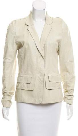 Sylvie Schimmel Notch-Lapel Leather Blazer