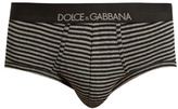 Dolce & Gabbana Brando Striped Stretch-cotton Briefs