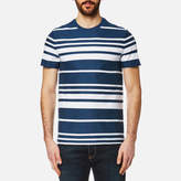 Lacoste Men's Striped TShirt - Inkwell/White