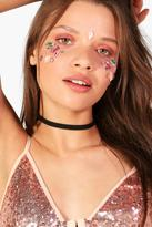 Boohoo Festival Face Gems pink