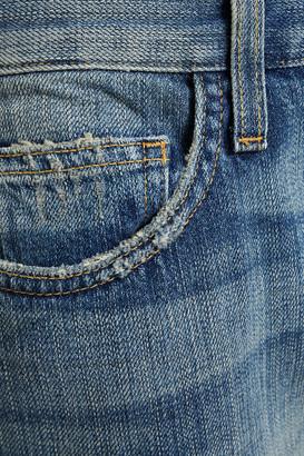 Current/Elliott Cropped Distressed Boyfriend Jeans