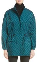 St. John Women's Tile Jacquard Funnel Neck Jacket