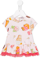 MonnaLisa ice cream print dress - kids - Cotton/Spandex/Elastane - 6 mth
