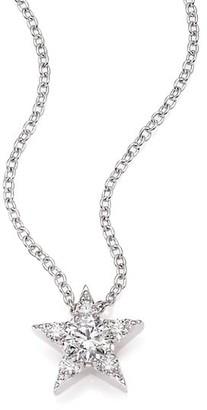 Hearts On Fire Illa Diamond & 18K White Gold Cluster Pendant Necklace