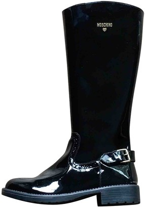 Moschino Black Patent leather Boots