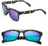 Italia Independent I-Gum Camouflage 52MM Round Sunglasses