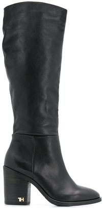 Tommy Hilfiger Logo Hardware Calf High Boots