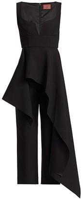SOLACE London Rena Peplum Ruffle Cropped Jumpsuit