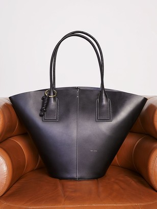 Jigsaw Chiltern Leather Wing Shaped Tote Bag