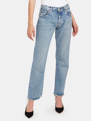 Moussy Norwalk Mid Rise Straight Leg Ankle Jeans