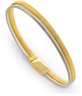 Marco Bicego Masai Two-Row 18K Yellow & White Gold Bracelet