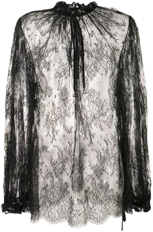 Alexander McQueen sheer lace blouse